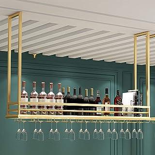 CDPC Support de Verre à vin Suspendu Flottant monté sur étagère de Plafond, pour Bars/Restaurants/Cuisines Support de Rang...