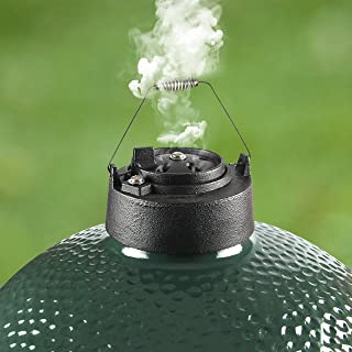 Dracarys Cast Iron Vented Chimney Cap for Big Green Egg Dual Function Metal Top,Big Green Egg Accessories Daisy Wheel for Large&Medium Big Green Egg Damper Chimney Cap Big Green Egg Replacement Parts