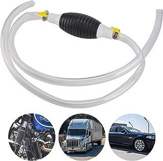 LUTER Benzin Handpumpe und Schlauch mit 2 Gelben Dichtungszubehören für Fahrzeug Manuelle Öl Absaugpumpe