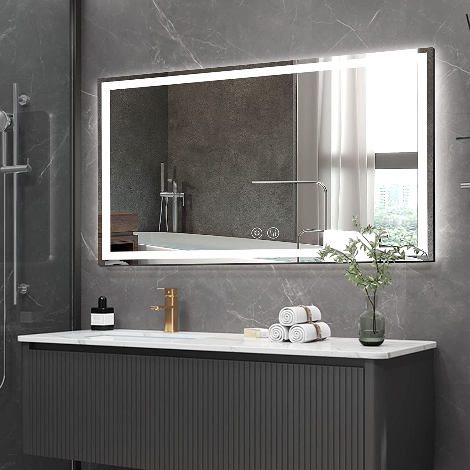 CONGUILIAO Max 71% OFF LED Mirror for Bathroom Vanity x 36 Backlit Baltimore Mall