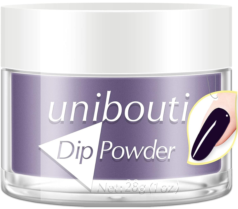 UNIBOUTI Max 54% OFF Max 51% OFF Nail Dip Powder Dark Purple Dipp Colors 2 Formula in 1