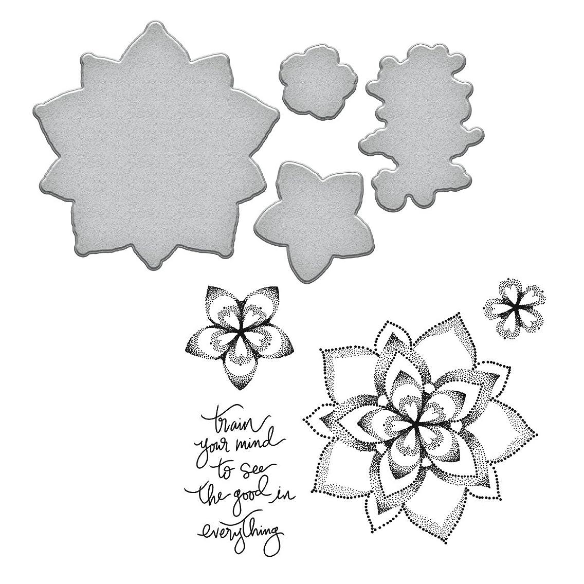 Spellbinders Dot Mandala Cool Vibes Stamp and Die Set