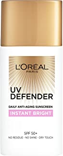 L´Oréal Paris Uv Defender Instant Bright Daily Anti, Ageing Sunscreen Spf 50+ With Niacinamide, 50 ml