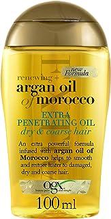 OGX, Olio per capelli a forte penetrazione, Renewing + Argan Oil of Morocco, Extra Penetrating Oil, Capelli Secchi e Ruvid...