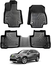 All Weather Protector 4 Piece Set Autotech Zone Custom Fit Heavy Duty Custom Fit Car Floor Mat for 2006-2012 Toyota RAV 4 SUV Beige and Brown