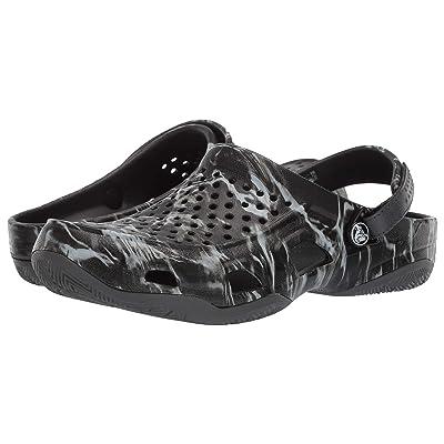 Crocs Swift Mossyoak Elements Deck Clog (Black) Men