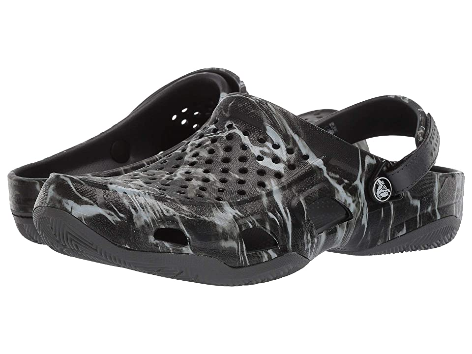 c450a979dbf2 Crocs Swift Mossyoak Elements Deck Clog (Black) Men
