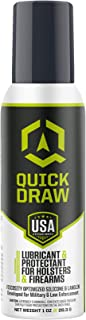 Quick Draw Gun Holster Lubricant & Protectant | Silicone and Lanolin for Longer Holster Life | Kydex, Leather, Plastic | Aerosol Spray