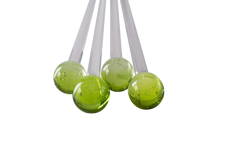 supreme Handblown Glass Swizzle Product Sticks