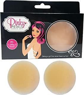 Pinky Petals Pasties Nipple Covers, Reusable Silicone Breast Sticky Nipplecovers Nude