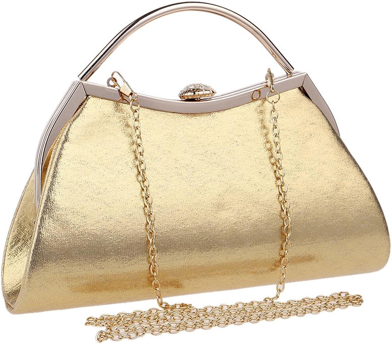 LiShinhuan Frauen Sparkly Abend Clutch Handtasche Handtasche in Hardcase (Farbe   Gold) B07G72GNVP  eine breite Palette von Produkten