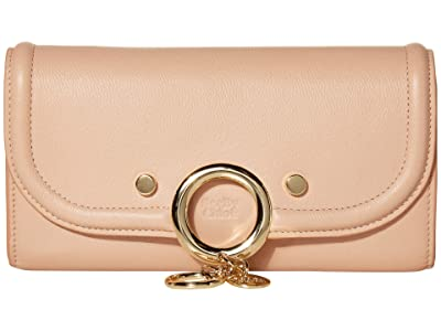 See by Chloe Mara Long Wallet with Flap (Powder) Handbags