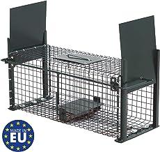 Piège de Capture infaillible - Cage - pour Petits Animaux: Lapins, Rats, rongeurs - 50x18x18cm - avec Deux entrées 5006