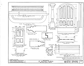 Historic Pictoric Structural Drawing HABS VA,64-TUN.V,4- (Sheet 7 of 9) - St. Peter's Church, State Route 642, Tunstall, New Kent County, VA 55in x 44in