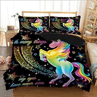 Unicorn rêves Simple Parure De Lit Réversible Literie Enfants Filles