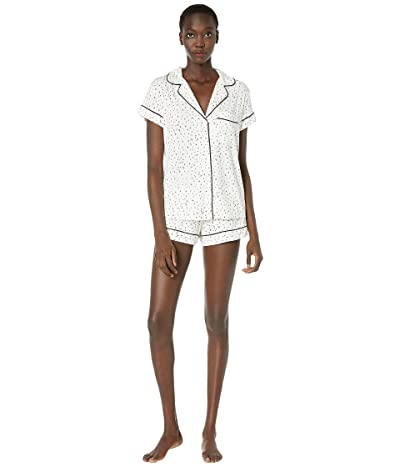 Eberjey Sleep Chic The Short Boxed Pajama Set (Estrella Ivory/Navy Heather) Women