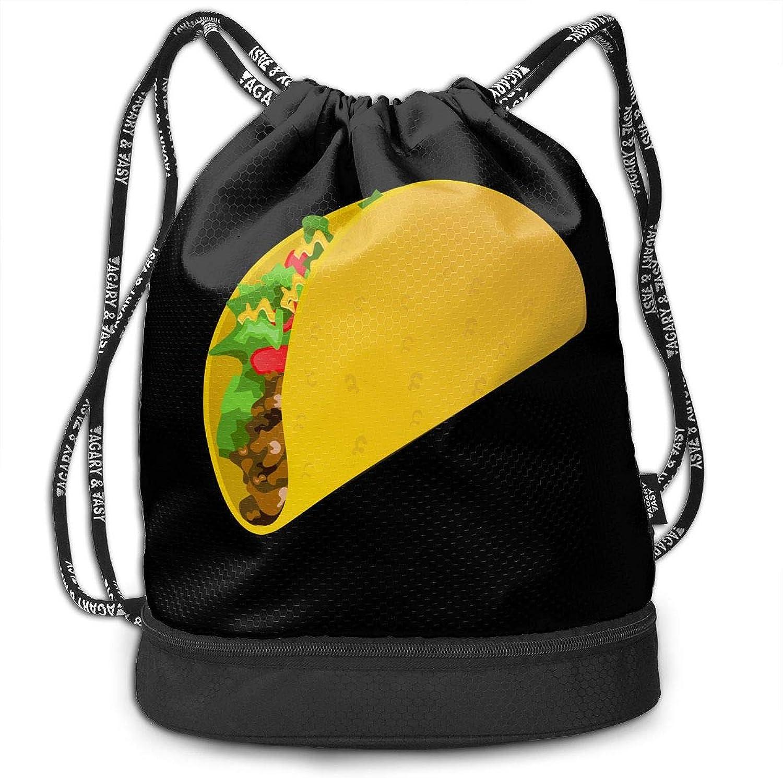 Gymsack Taco Print Drawstring Bags  Simple Gym Shoulder Bags