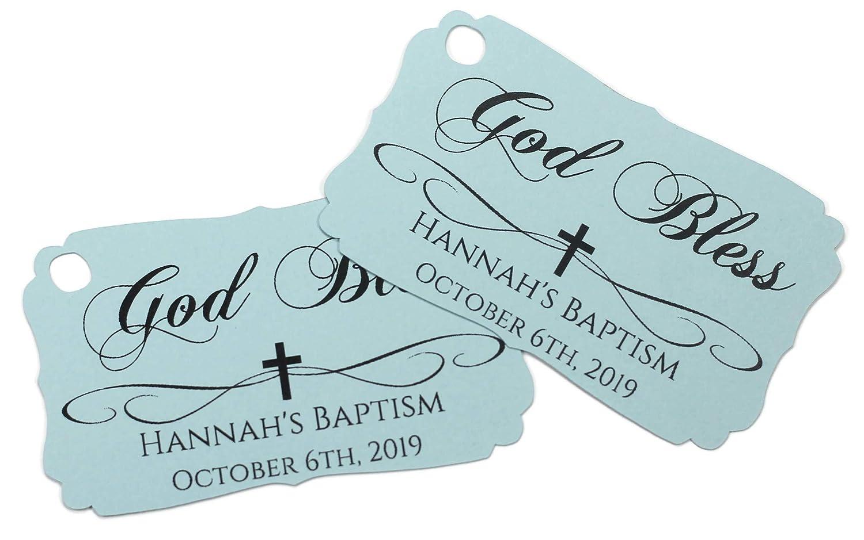 Blue Kansas City Mall Baptism Max 56% OFF Tags - Custom God Favor 20 of Set Bless