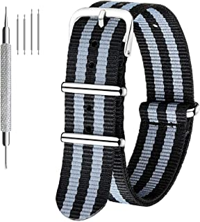 comprar comparacion Correa para reloj Nato de Civo, fabricada con nailon balístico de alta calidad, hebilla de acero inoxidable, con ba...
