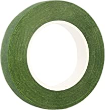 """DECORA 1/2"""" Wide Dark Green Floral Tapes for Bouquet Stem Wrapping and Floral Crafts"""