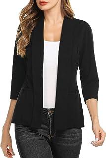 Concep Women's Casual Lightweight Long Sleeve Open Front Work Office Blazer Jacket S-XXL