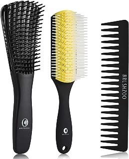 O BRUSHZOO Detangling Brush for Curly Hair, Detangler Brush for Black Natural Hair, Detangle Brush for Women Men or Kids ...