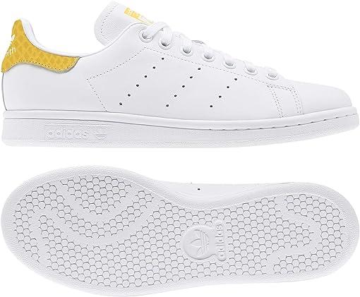 Footwear White/Footwear White/Core Yellow
