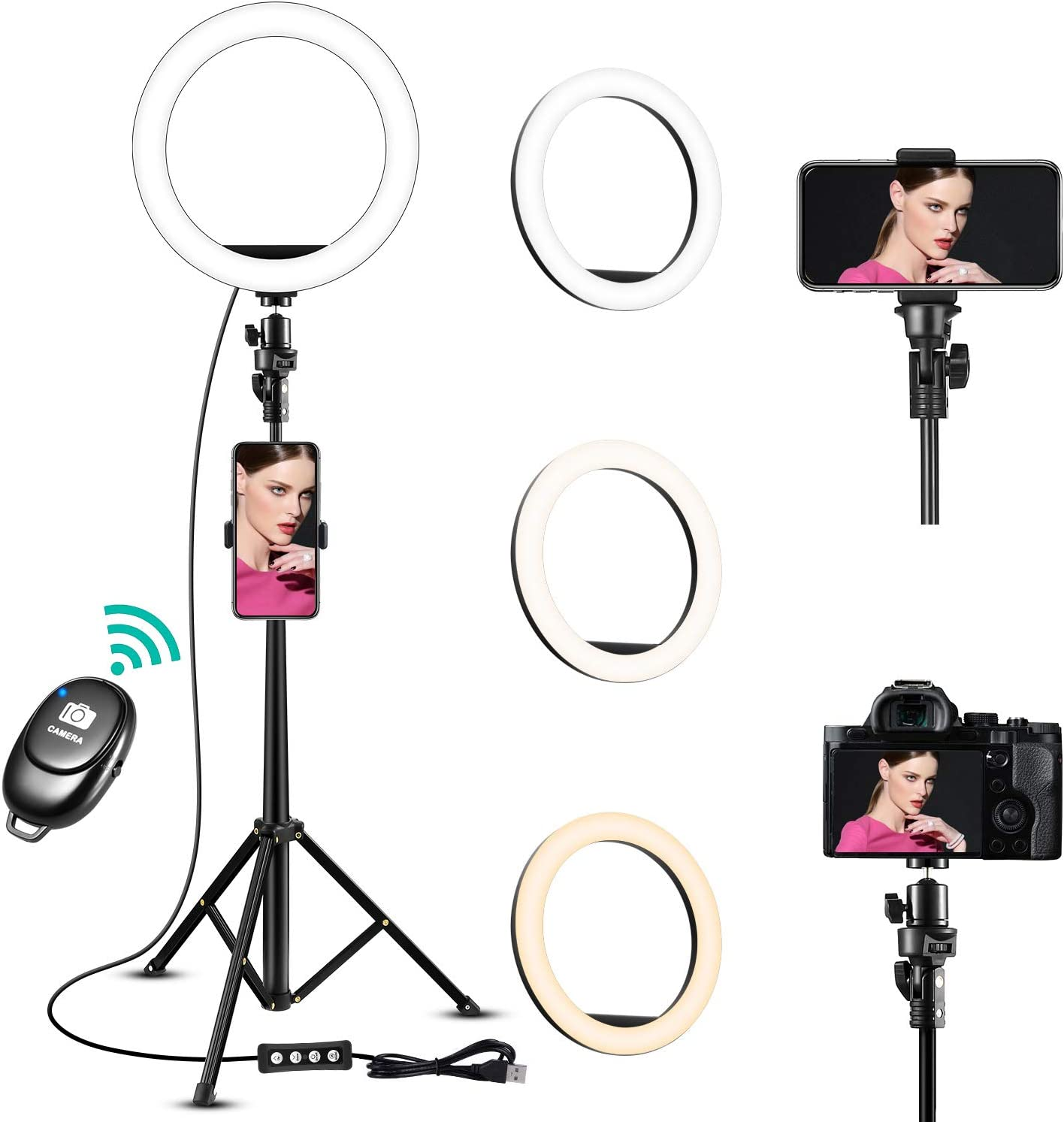 Ring Light 10'' Under blast sales Selfie with 60'' Extendable Baltimore Mall Tripod St