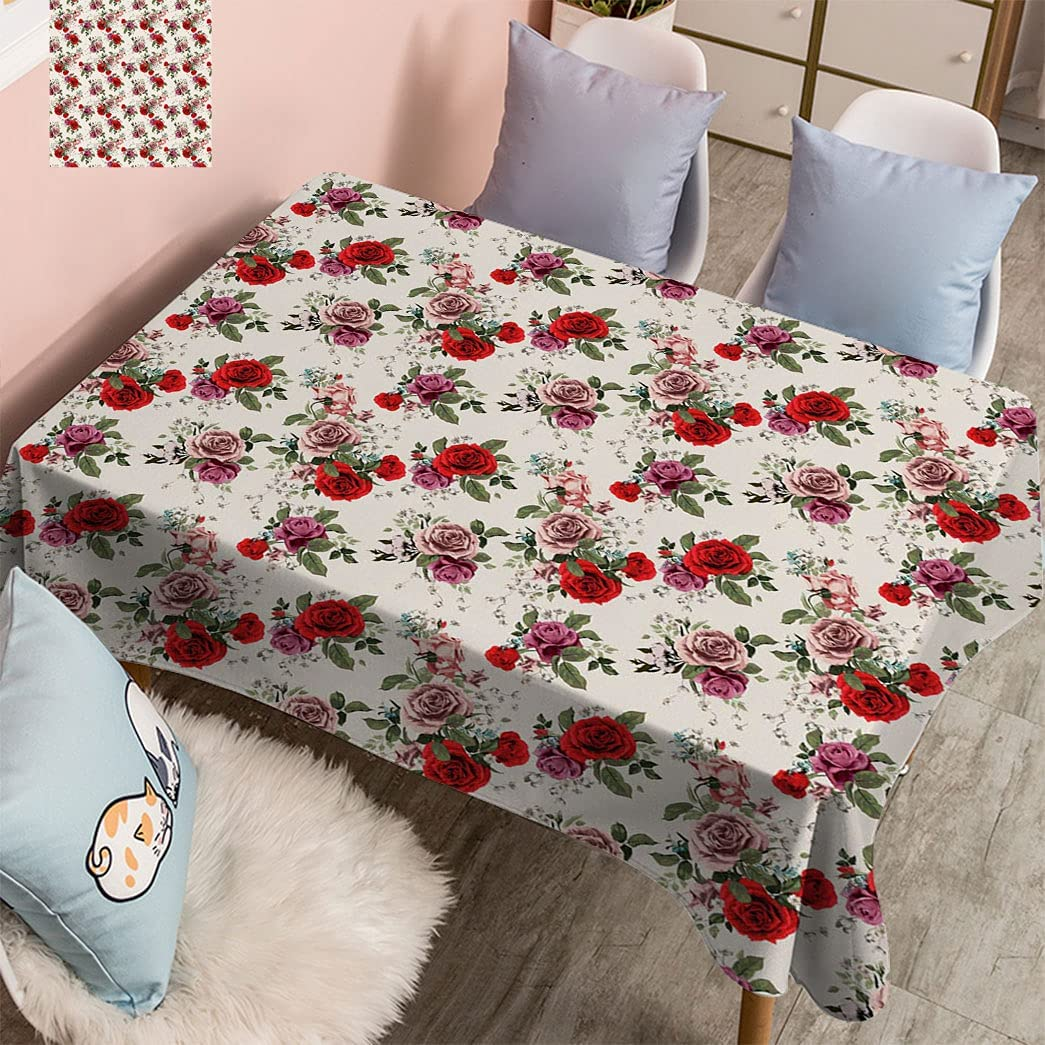 Amazing Max 62% OFF House Decor Popular products Printed Botanical Tablecloth Floral Pattern