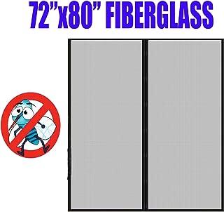 Fiberglass Mesh Magnetic Screen Door 72