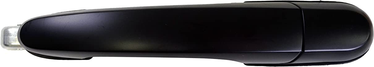 PT Auto Warehouse HY-3503P-RL - Outside Exterior Outer Door Handle, Primed Black - Driver Side Rear