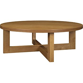 Amazon Com Regency Chloe 37 Inch Round Coffee Table Medium Oak Furniture Decor