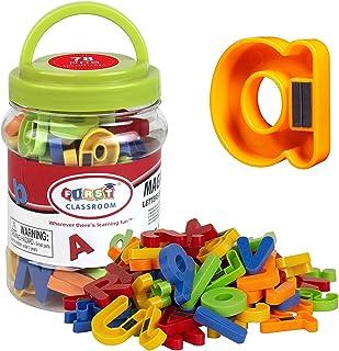 Mumoo Bear Magnetic Letters Numbers Alphabet ABC 123 Fridge Magnets Preschool Educational Learning Plastic Toy Set Upperca...