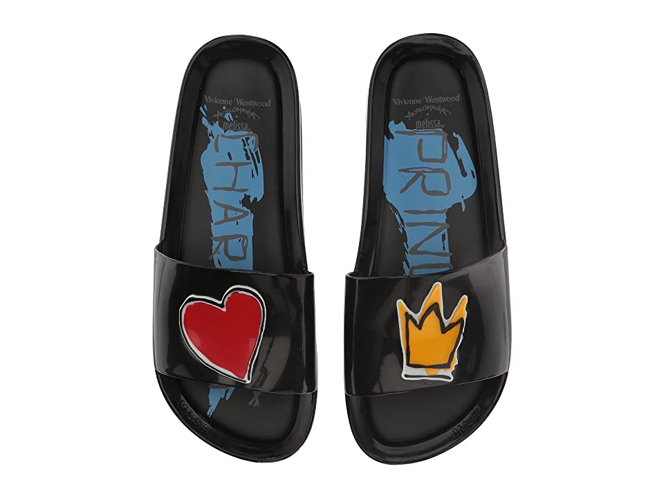 Melissa Shoes Vivienne Westwood Anglomania + Melissa Beach Slide II (Black) Women