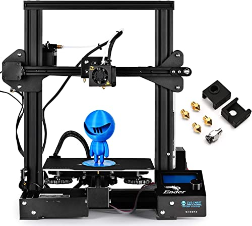 SainSmart x Creality Ender-3 PRO 3D Printer with Upgraded C-Magnet Build Surface Plate Mat, UL Certified Power Supply...