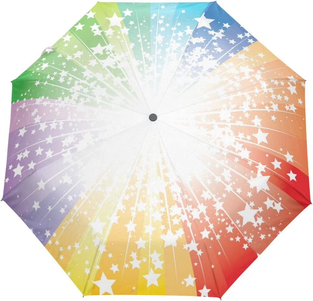 SUABO Windproof New Free Shipping Under blast sales Automatic Travel Umbrella with Burst Patte Stars