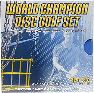 Latitude 64 World Champion Retro Line Disc Golf Starter Set [Disc weights and colors may vary]