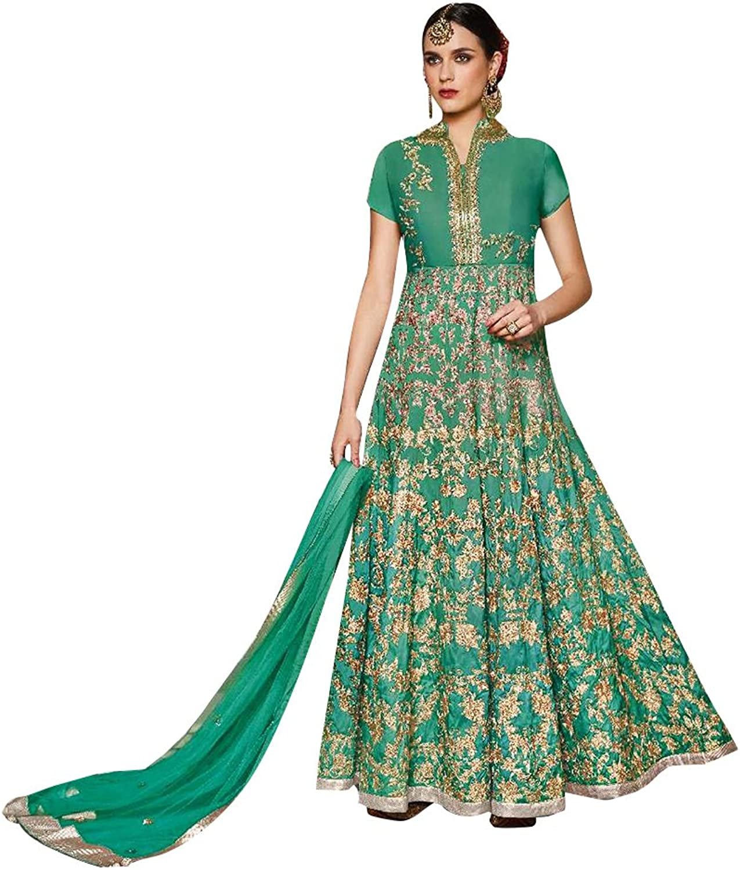 Bollywood Wedding Ceremony Heavy Bridal Anarkali Salwar Kameez Muslim Suit Gown Dress Ethnic 741