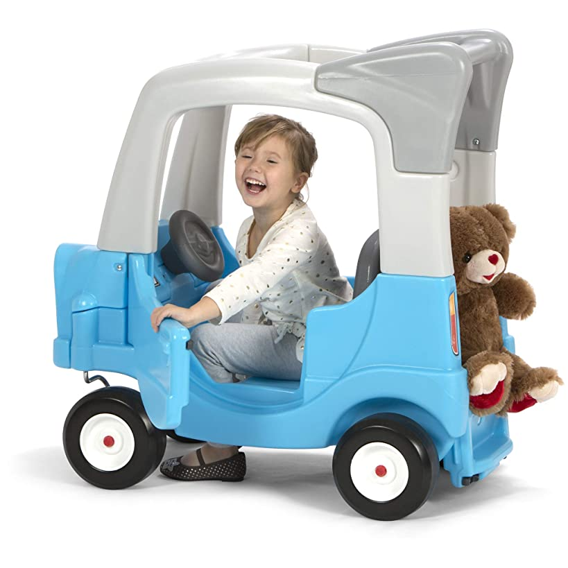 Simplay3 My Buddy and Me SUV - Grow with Me, Children's Ride-in to Ride-on w/ Adjustable Floorboard (Blue)