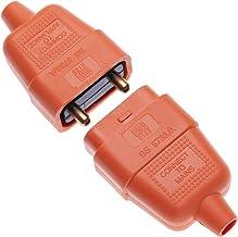 2-biegunowe złącze wtykowe, guma 10 A, AMP, łącznik, 2 wtyki rdzeniowe i gniazdo kablowe, kompatybilne z elektryczną kosia...