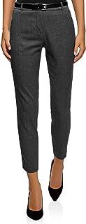 Mujer Pantalones Ajustados con Cinturón