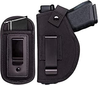 JIEDE Universal IWB Gun Holster for Concealed Carry | Pistol Holster & Magazine Holster Set for Men & Women | Removable Metal Clip for Right & Left Hand Draw | Fits Subcompact to Large Handguns