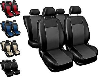 Housses Siège Auto Avant et Arrière Voiture avec Airbag Système Comfort – Noir et Gris