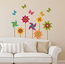 Amazon Brand - Solimo Wall Sticker for Bedroom (Pinwheel, Ideal Size on Wall: 87 cm x 89 cm)
