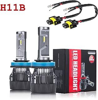 ALLA Lighting S-HCR H11B LED Headlight Bulbs 10000Lms Extreme Super Bright LED H11B Headlight Bulbs Conversion Kits Cool White All-in-One H9B H11B LED Headlamp Replacement …