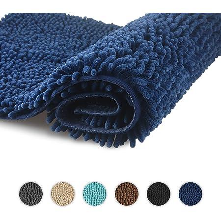 Tappeto da bagno in microfibra Basics 0,53 x 0,86 m antiscivolo Lavanda a pelo lungo