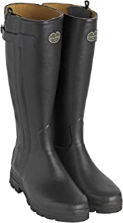 Le Chameau Women's Chasseur Leather Lined Boots Black
