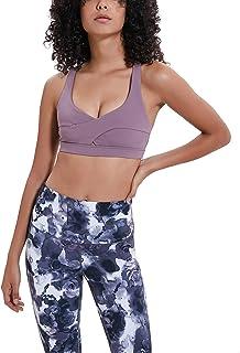 Jalas Women Sports Bra Yoga Top Medium Support Strappy Cross Back Workout Bra for Lady