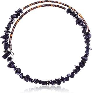 Native-Bay $130Tag Purple Goldstone معتمد Navajo قابل للتعديل قلادة 25562 صنع بواسطة Loma Siiva