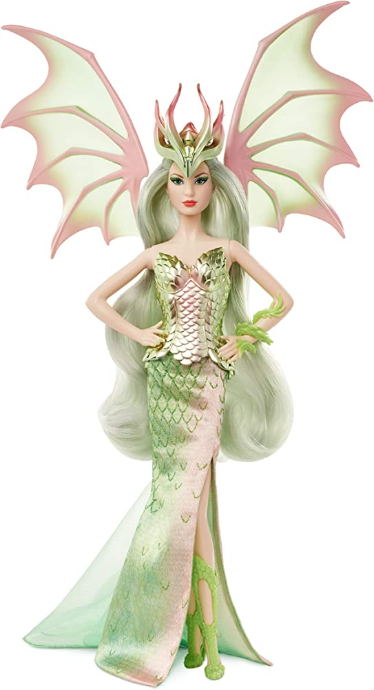 Barbie signature, bambola da collezione con vestito da sirena GHT44